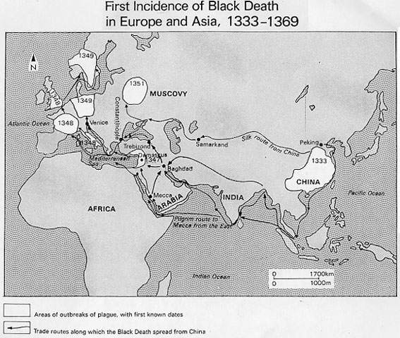the origin and spread of the bubonic plague It's a plausible theory, noted nükhet varlık, a professor of history at rutgers university in new jersey who has studied the plague in the ottoman empire but she criticised the focus of the new research exclusively on the european experience plague spread across afro-eurasia during the black death.